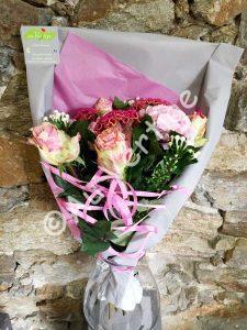 Bouquet de fleurs coupées personnalisé pour anniversaire
