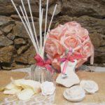 Bouquet avec savons parfumés et diffuseur