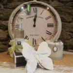 Papillon parfumé en forme de papillon et horloge