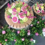 Bouquet rond avec liège pour la fête des mères