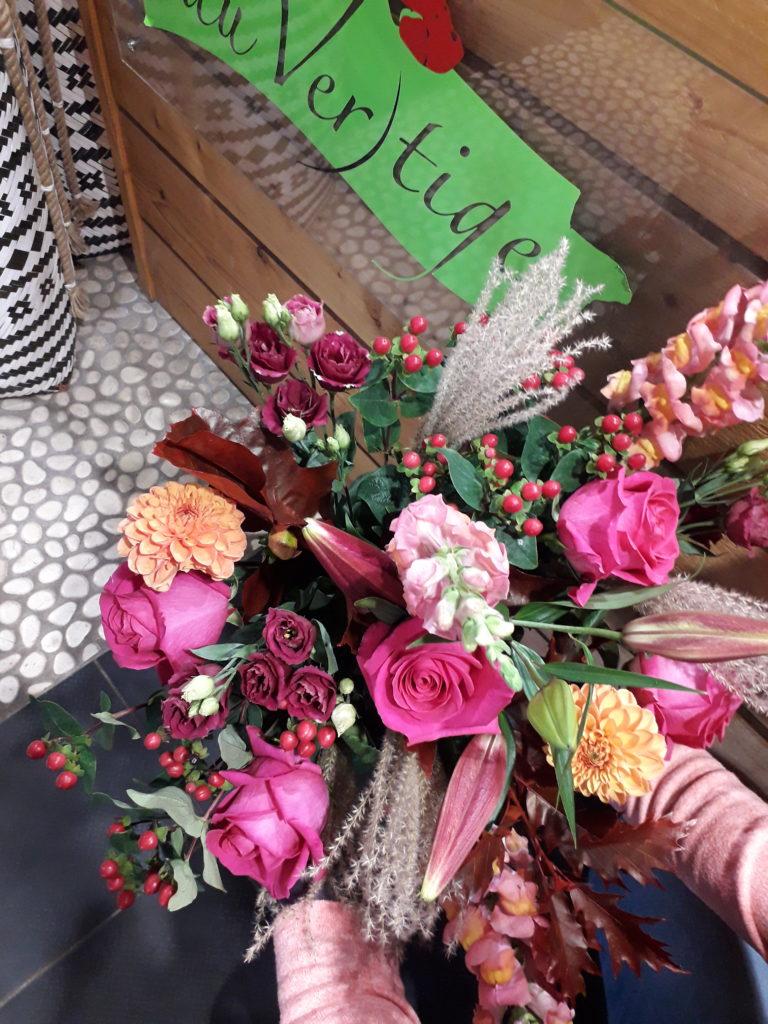 bouquet de fleurs coupees